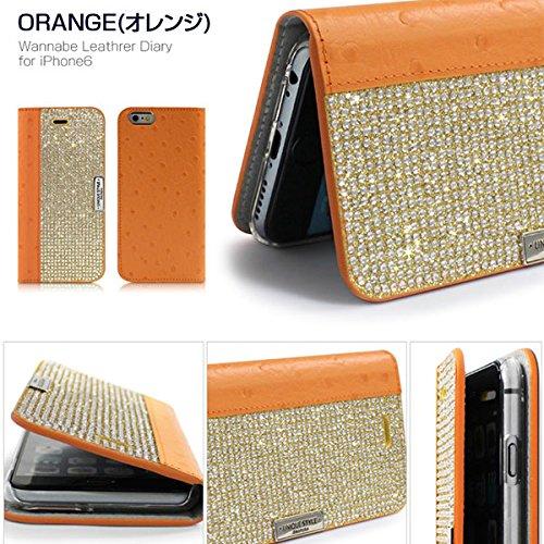 Người Nhật thường xuyên, đặc vụ hàng] Dreamplus iphone6* Khoan vỏ cam Wannabe leathrer quyển nhật ký