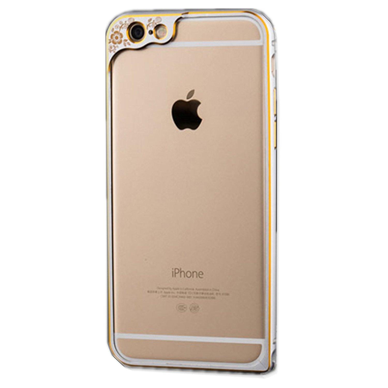 YOCY nháy mắt series nhép sọc viền kim loại bảo vệ vỏ kim loại được áp iPhone6 6S viền iPhone6 6S 4.