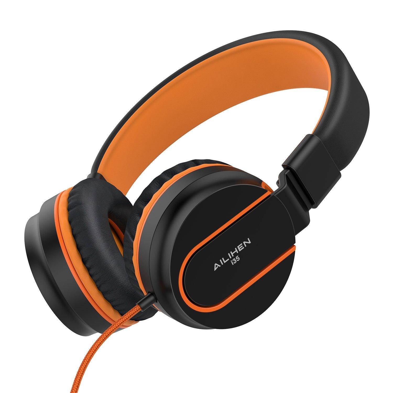 Ailihen I35 tai nghe stereo thể gập lại điều chỉnh headband tai nghe đưa micro 3.5 mm có thể áp dụng