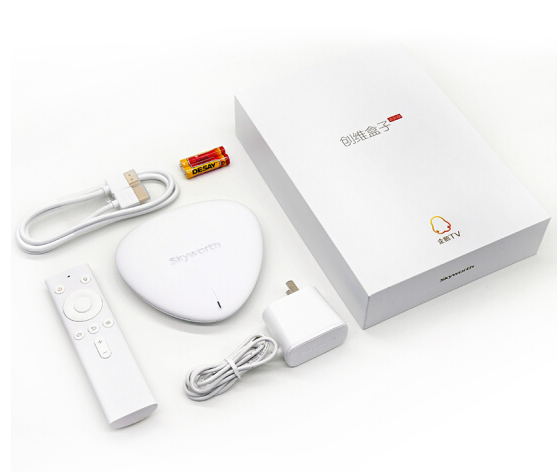 (Skyworth) Q+ thế hệ thứ hai mạng lưới truyền hình hộp thoại bluetooth phiên STB 4K độ nét cao Andro