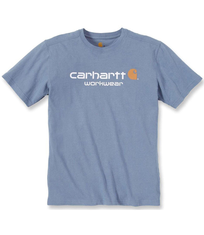 Carhartt việc phục là áo tay ngắn công việc 101214 Core biểu tượng áo xanh nhạt. M.