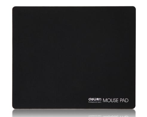 Mousepad, cánh tay phải (Deli) 3691 tuba mài mòn cao su tấm lót chuột đen.