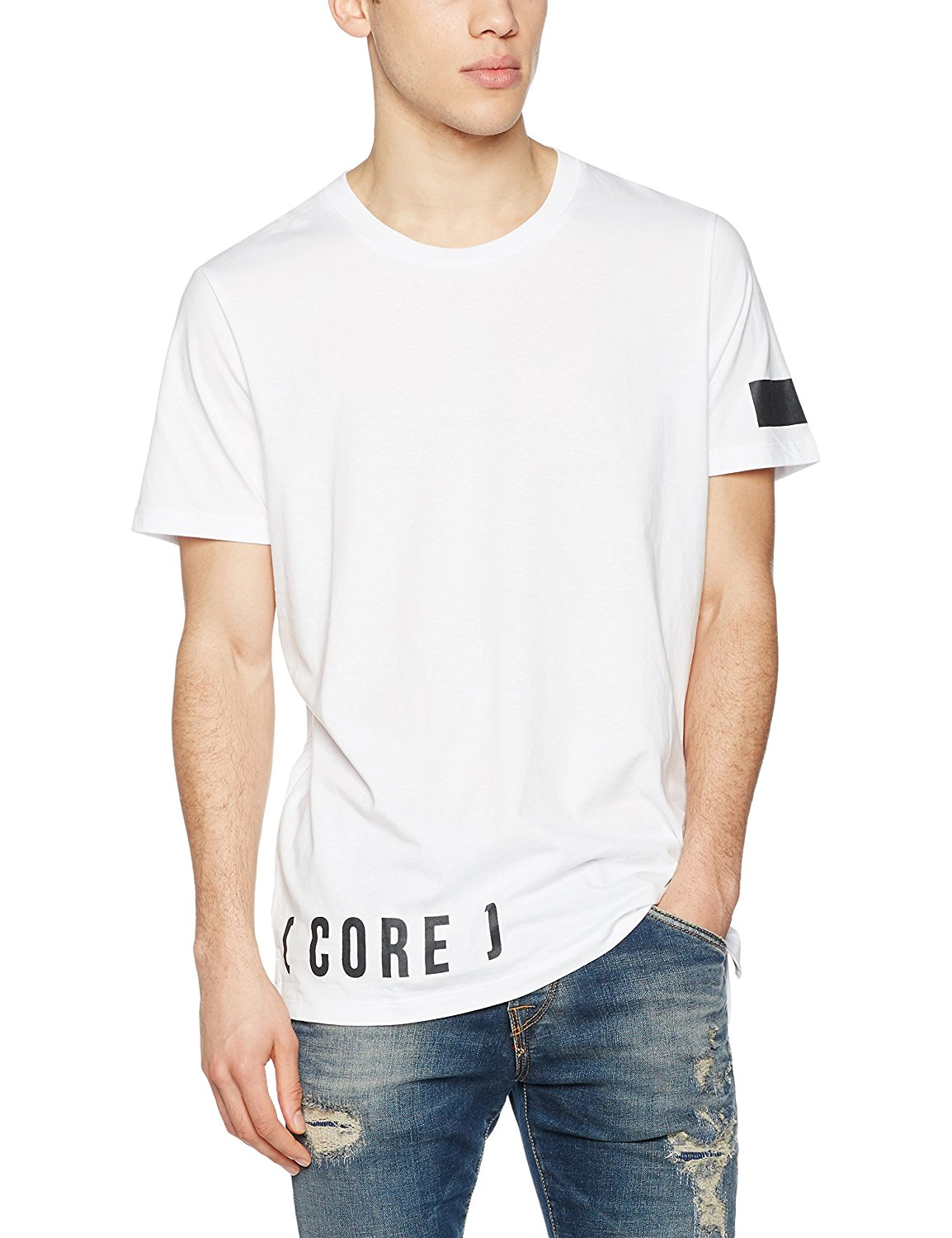 Jack & Jones jcoseeki SS neck t-shirt men's shirt T T