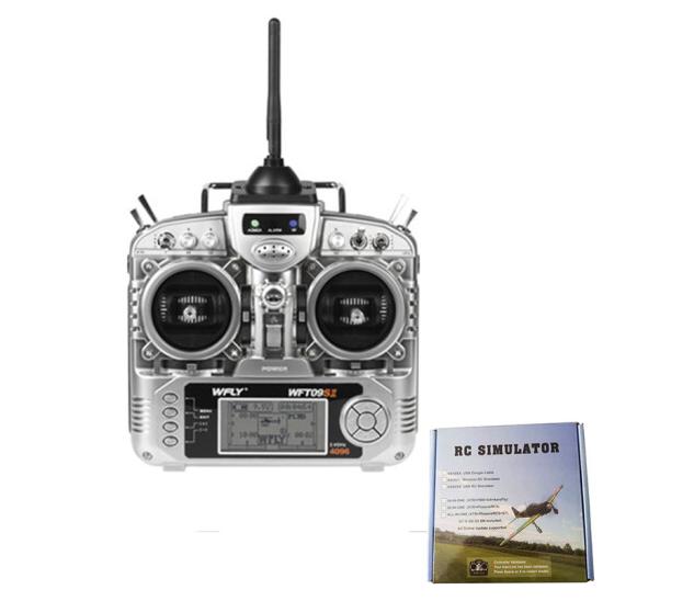 Trời đất, bay WFT09SII 2.4G 9 kênh điều khiển máy bay điều khiển từ xa máy phát nhiều trục bao gồm đ