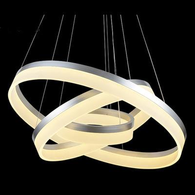 MohLoi Vòng acrylic hiện đại nhỏ gọn LED đèn chùm treo quanh nhà ngủ nghiên cứu nhà hàng thời trang