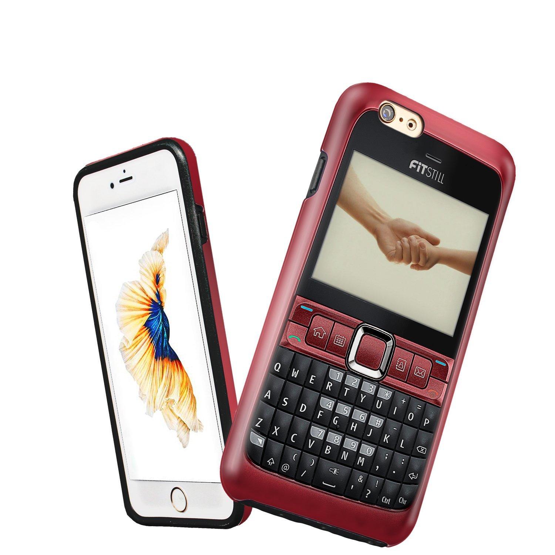 Fitstill iPhone 6 / 6S Plus vỏ điện thoại cổ điển hoa, trộn 2 hợp 1 bảo vệ vỏ chịu cú sốc kẹo bảo vệ