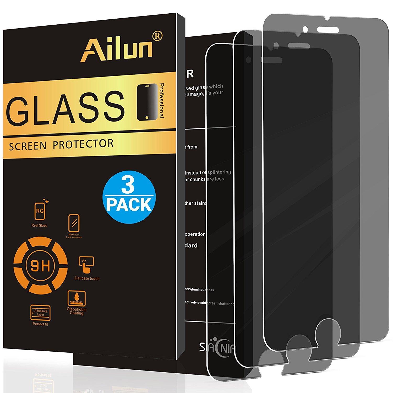 AILUN IPhone 7 8 của màng bảo vệ màn hình riêng tư phản gián điệp chống chói [3] gói Alan 2.5D Edge
