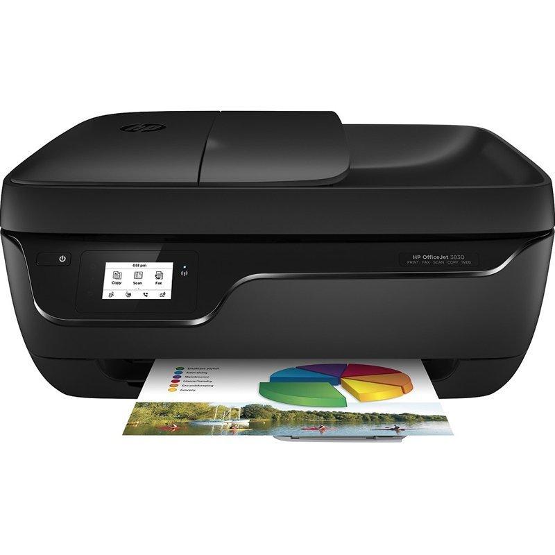 Máy in   HP Hewlett - Packard bốn hợp nhất một máy phun màu OffiecJet3830 in / sao chép / quét ảnh v
