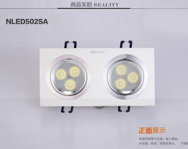 LED đơn ánh sáng đèn điện lưới hình chữ nhật lớn mạnh dạn đầu Cob bệnh đậu mùa đầu COB6W ánh sáng đè