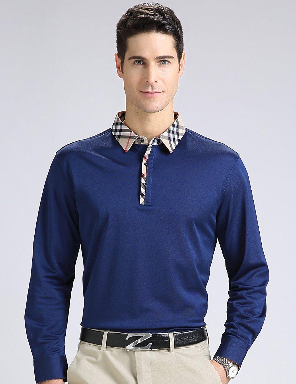 Áo dài tay áo trai thương mại lớn Polo subunicolor t tuổi trung niên khoác áo.