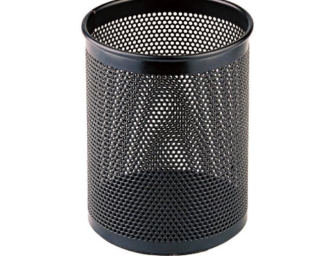 Mạng lưới kim loại đồng tâm (COMIX) hình tròn ống đựng bút văn phòng văn phòng phẩm kim loại đen B20