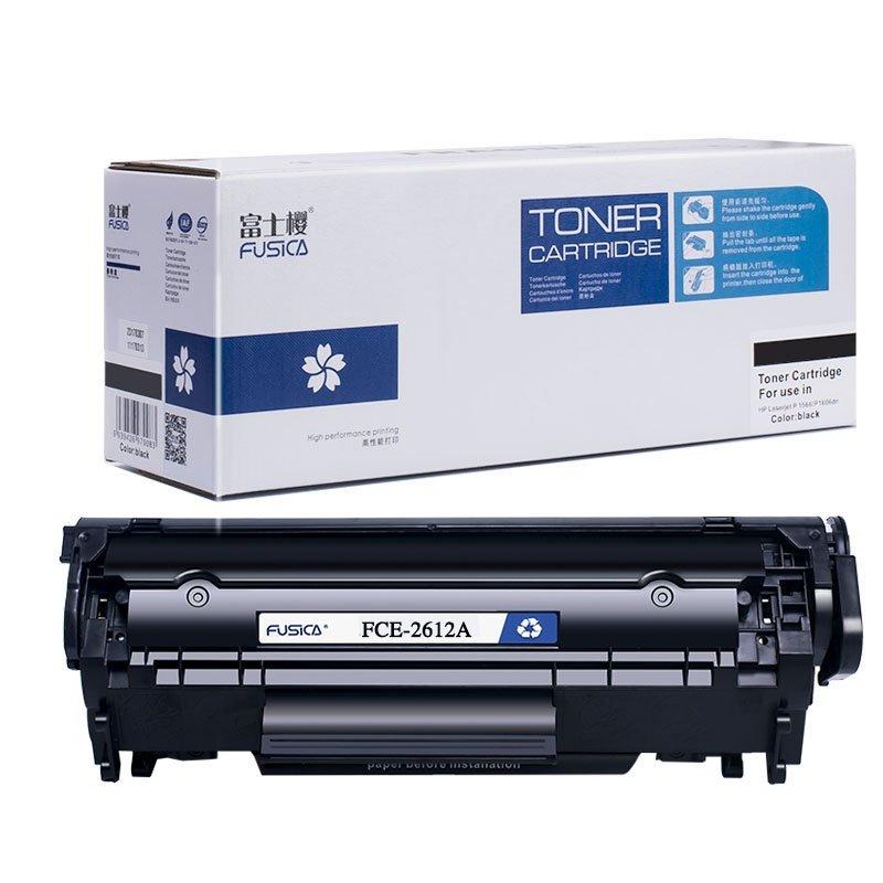 Hộp mực than  Anh Đào Fusica Fuji FCE-2612A áp dụng với Hewlett - Packard HP Q2612A 12A LaserJet 101