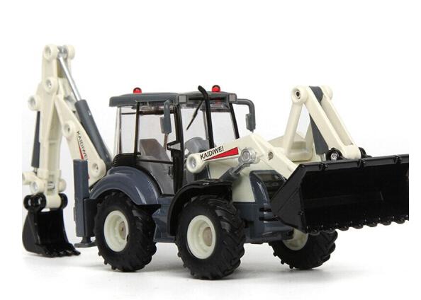 Máy xúc Uy kỹ thuật mô hình hai chiều xe đồ chơi xe kỹ thuật xe nâng 1:50 xưởng xe đồ chơi mô phỏng