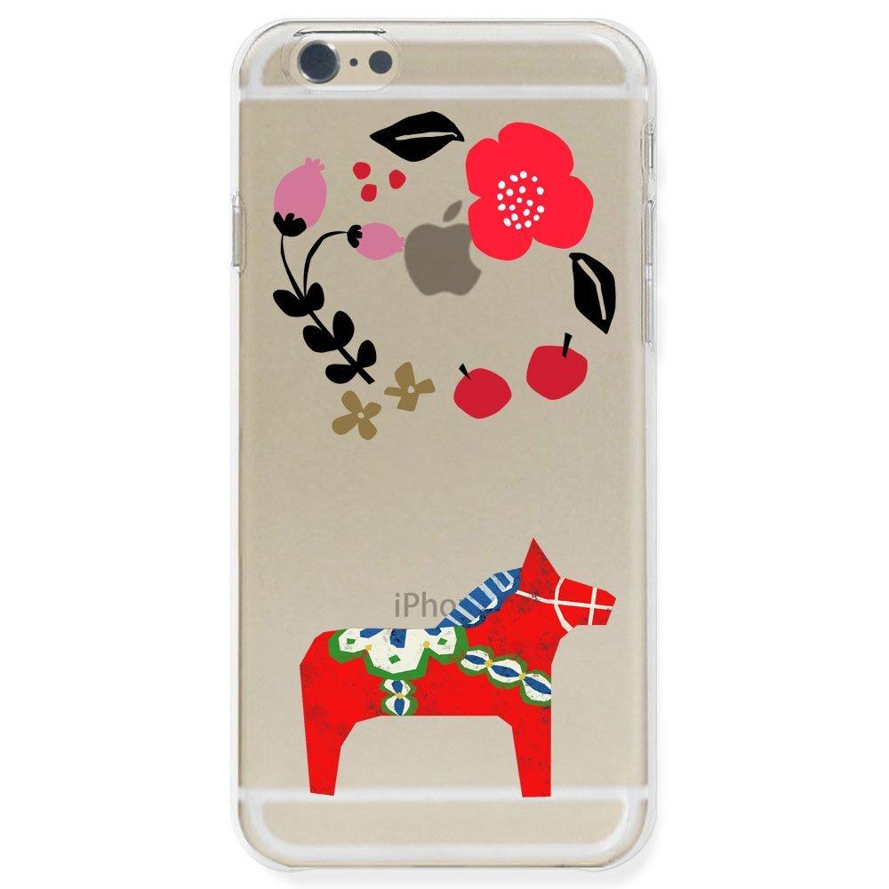 otas Trong suốt cơn gió Bắc Âu polycacbonat cartilaginea iphone6 vỏ thiết kế 888 – 50108 ngựa màu đỏ