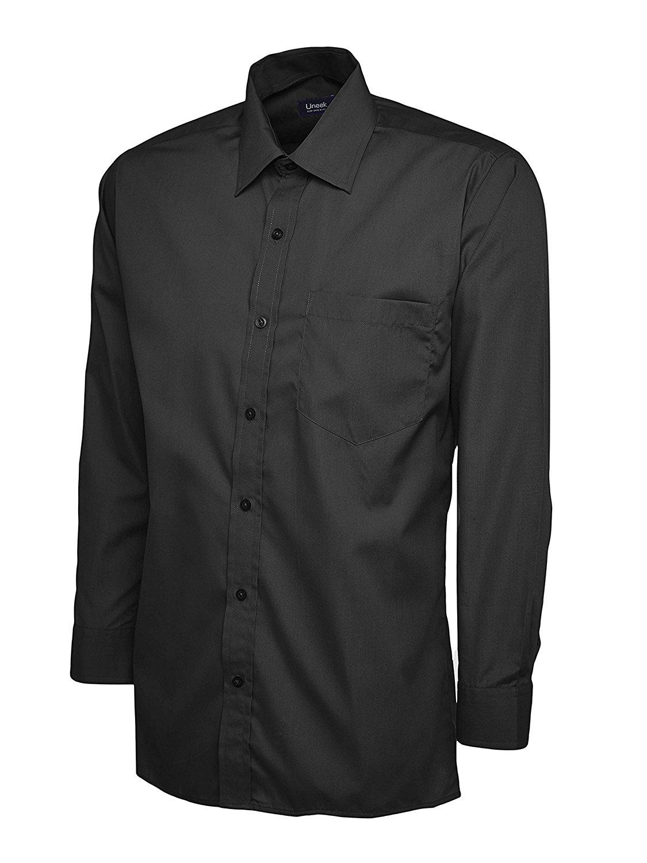 Uneek người đàn ông làm việc cả công ty Smart áo dài tay áo vải pô - pơ - Lin (10 màu)