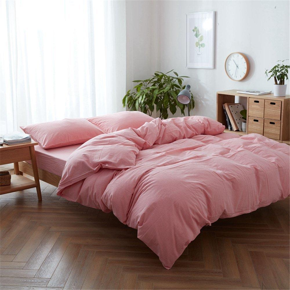 Nhật Bản nước rửa nước rửa 4 miếng bông bông bốn mảnh vải sọc ca - rô khăn trải giường đơn giản. SF2