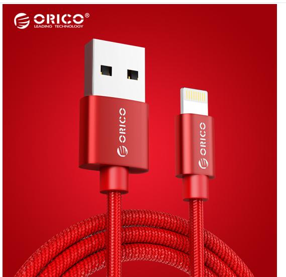 Haux, Duệ họ (ORICO) - dữ liệu dây sạc điện thoại dòng điện 1 mét dây đỏ iPhone8/X/5S/6s/7/Plus/iPad