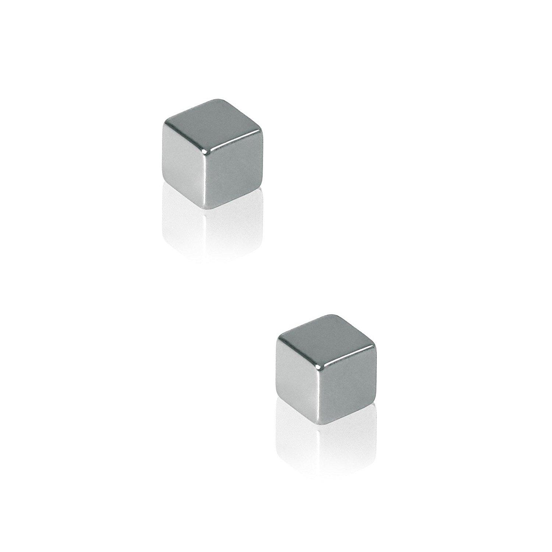 Sigel GL 191 SuperDym - nam châm Cube - thiết kế, màu bạc, 2 miếng dán áp dụng cho kính từ thơ – nhi