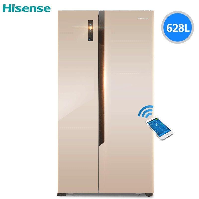 Tủ lạnh  Hisense/ BCD-628WTET/Q tủ lạnh gia dụng thông minh máy tính phải mở cửa Ali mây