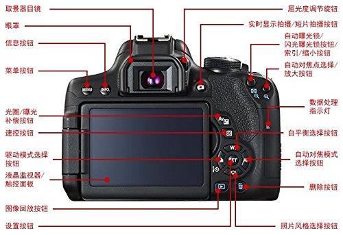 Máy ảnh phản xạ ống kính đơn / Máy ảnh SLR  Canon EOS 750D Canon Digital camera (bao gồm 18-55 là S