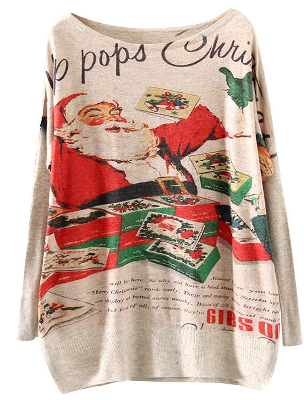 Minibee xấu xí tay áo dài tay áo Giáng sinh con dơi tem - đan len bộ áo đầu t