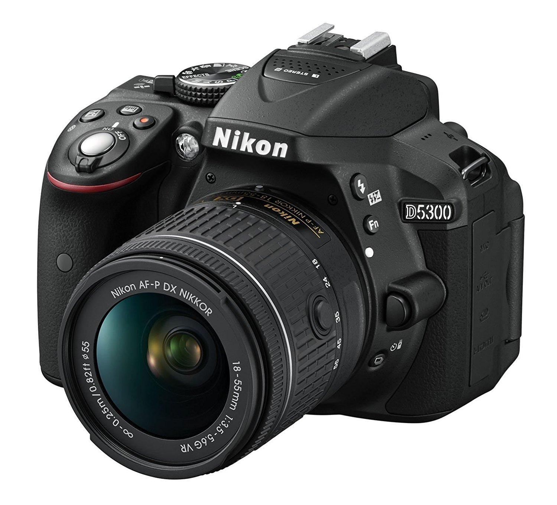 Máy ảnh phản xạ ống kính đơn / Máy ảnh SLR  Nikon D (MP) 5300 camera kỹ thuật số 24.2, rung nhĩ P 18