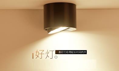 LED Minh gắn đèn bệnh đậu mùa trên hành lang nhỏ kiểu hút hàng miễn mở lỗ đen hình tròn Bắc Âu dây d
