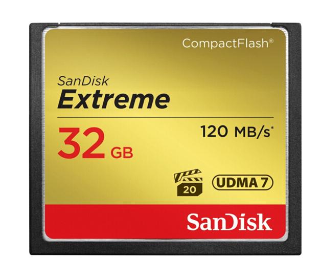 Shem Dee (SanDisk) 32GB đọc tốc độ 120MB/s viết tốc độ 85MB/s Prime CompactFlash thẻ lưu trữ UDMA7 C