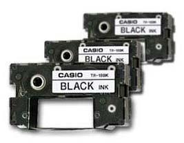 CASIO ribbons đen sẽ áp dụng cho mọi CW DISC đề máy in, 3 người nạp đạn tr-18bk-3p