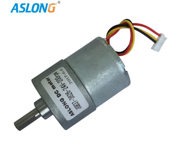 ASLONG JGB37-3626 không có động cơ không chải chải DC giảm mô men động cơ động cơ động cơ nhỏ hơn 24