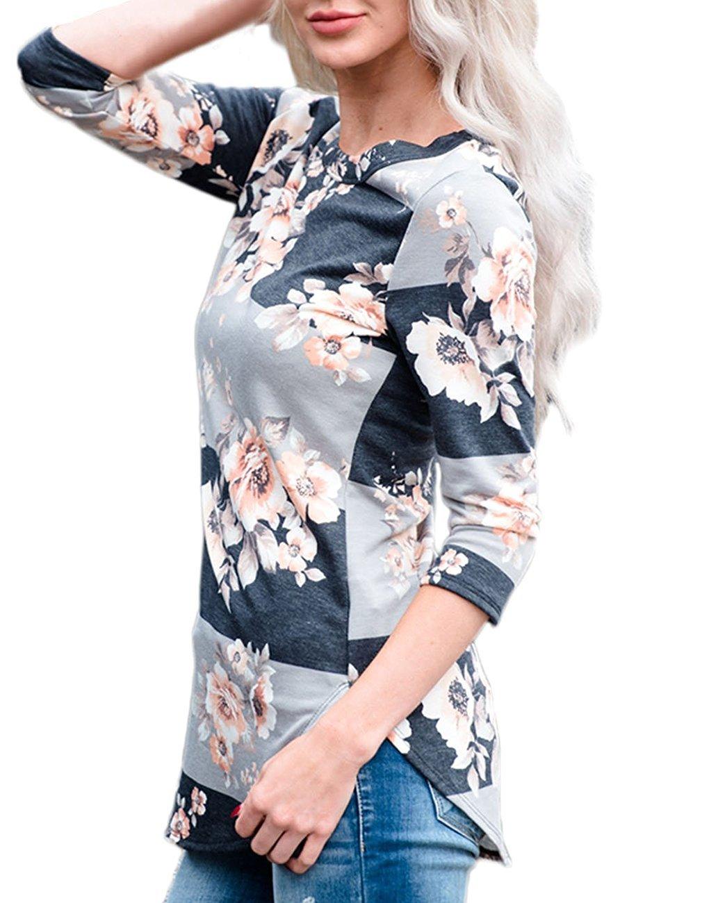 Andaa tem thắt lưng áo dài tay 3 hoa trong màu áo sọc Leisure thay áo và 1.00 m