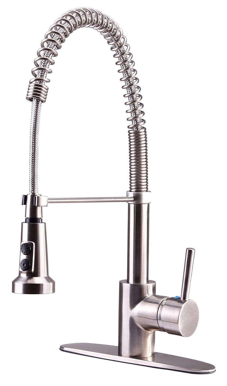 Ultra - Faucet and Shower      Siêu vòi nước uf12303 Euro Series đơn Bính bếp lò xo thép không gỉ vớ