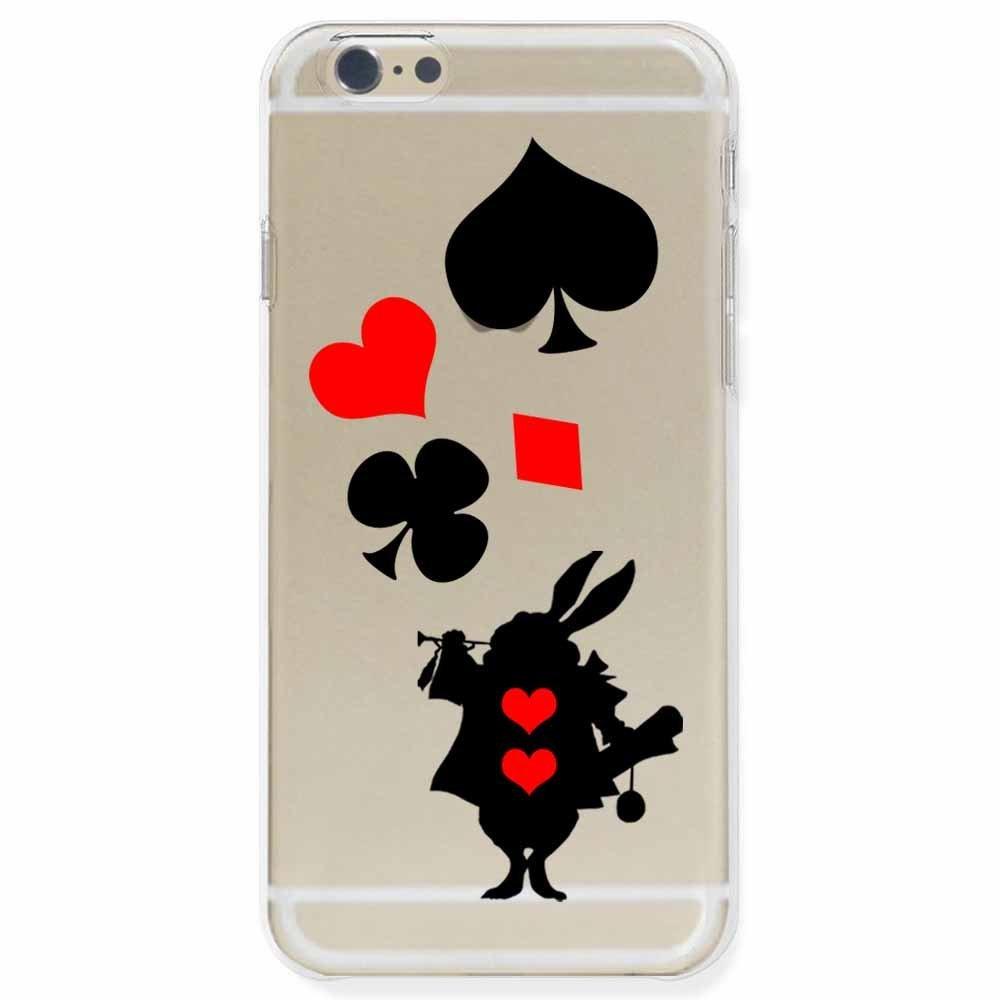 otas Iphone6 vỏ sò vỏ cứng polycacbonat trong suốt 888 Alice thỏ trắng 40482 Vì OTA.