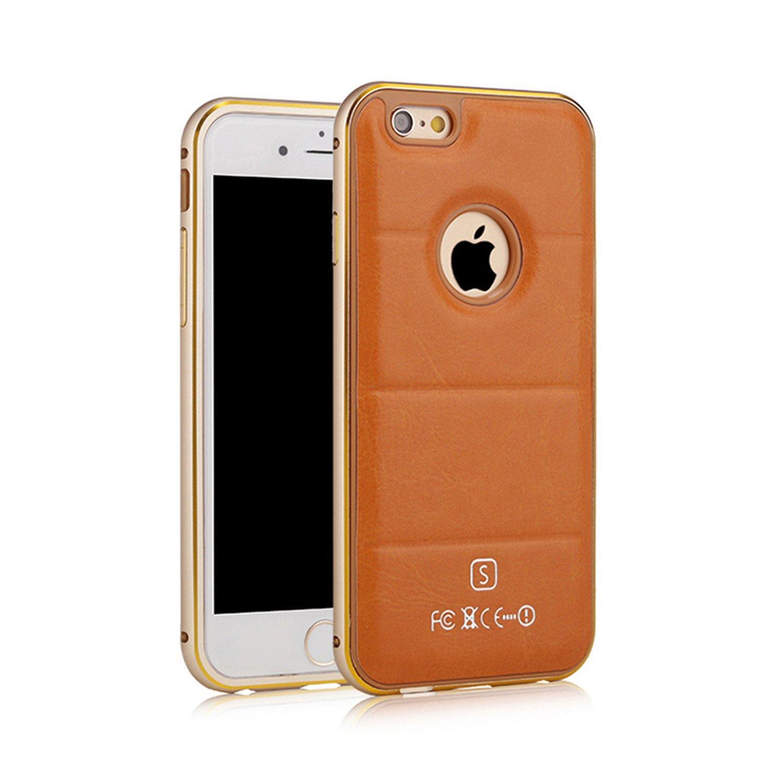 Ikodoo yêu hay nhiều táo 6 iPhone 6/iphone 6S hàng kim loại cao cấp viền da vỏ bảo vệ hệ vỏ kim loại