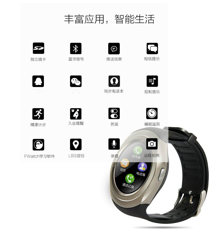 Đồng hồ thông minh  [quan san] Bluetooth smartphone chạm vào màn hình điện thoại đĩa đồng hồ người l