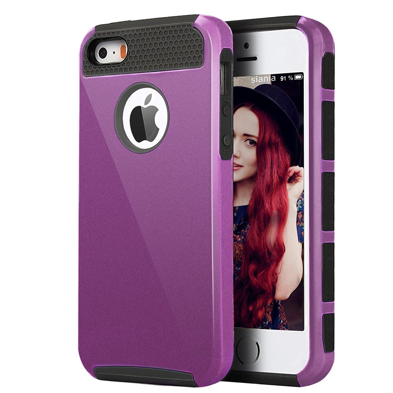 Ailun Alan, iPhone 5, 5S PC TPU FBA glaze_purple kết hợp hai phần của The Beatles
