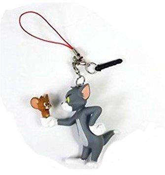 Tom và Jerry. Đôi tai nghe chống bụi vào điện thoại di động vật trang sức