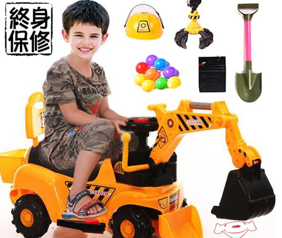 Điện máy xúc máy xúc máy đào được trẻ em ngồi không cưỡi được bắt được đào con nhạc chơi kỹ thuật xe
