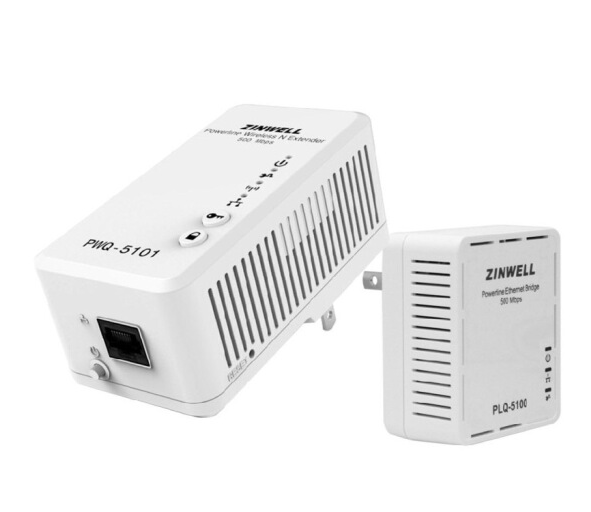 ZINWELL PWQ-5101 bộ 500M AP vô tuyến điện mèo (WiFi802.11n) dây cáp điện adapter trắng.