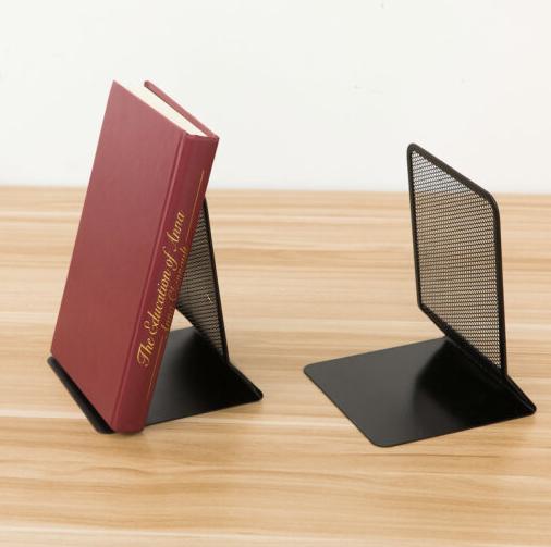 Mạng lưới kim loại nóng sách đặt phòng bookend hai màu kim loại thời trang phương Tây rất đơn giản.