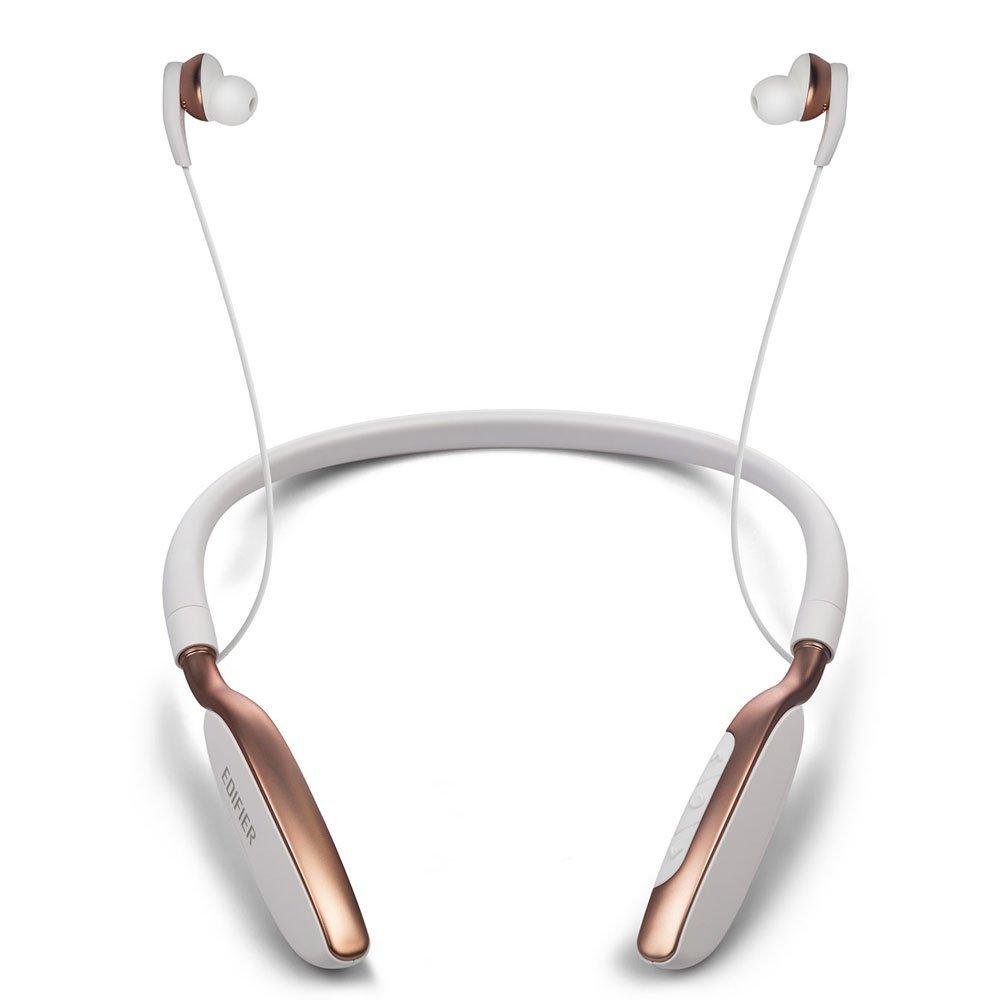 Edifier xe W360BT tai nghe Bluetooth không dây treo cổ kiểu âm nhạc mang màu trắng chạy bộ thể thao