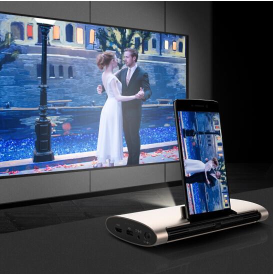 Cast từ Desktop Quả hạch (JmGO) khôn ngoan trong lũ Beamer nhà di động, độ nét cao M6 Mini 3D máy đi