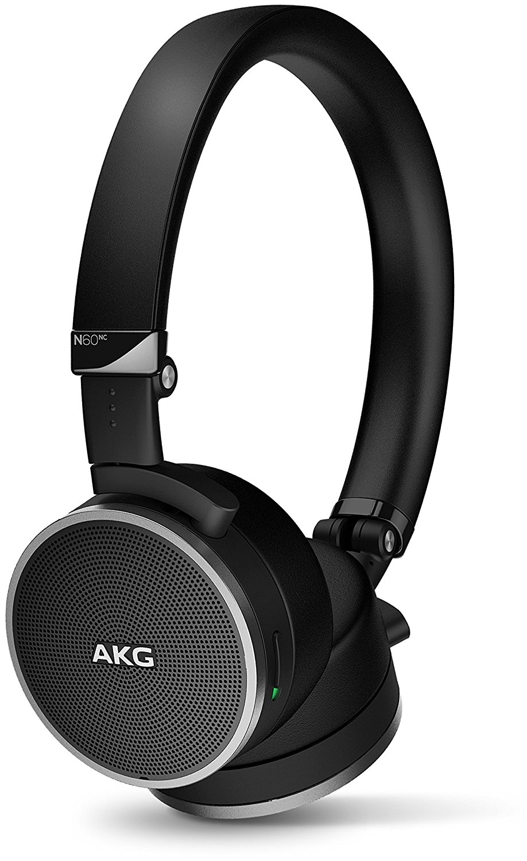 AKG N60NC tai nghe. Hoạt động giảm nhiễu tai nghe được con chíp âm nhạc HIFI tai nghe màu đen.