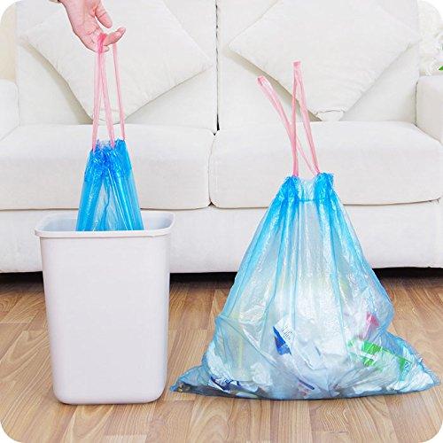 PERYOU    Đeo dây túi rác không bàn tay dơ bẩn dày của túi xách tay mặc dây tăng loại túi nhựa lớn 4