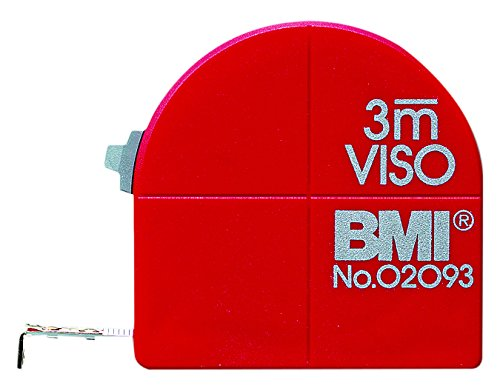 BMI bm405351 3 M VISO 3 trong 1 Metric và Imperial Tape Measure - Red