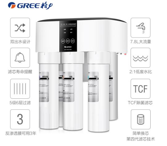 GREE [Caleb Official cửa hàng] Caleb (GREE) thiết bị chống thấm nước sạch nhà máy lọc ngay thẳng và