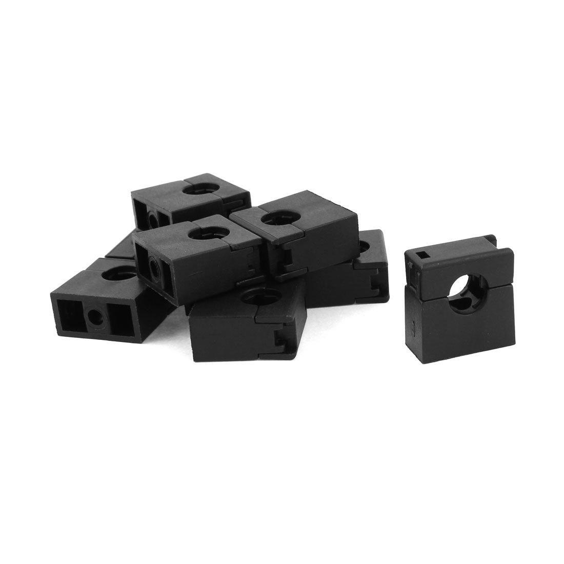 Sourcingmap ® khung ống dẫn sóng AD10 ống kẹp kẹp 10 PCS khung màu đen.