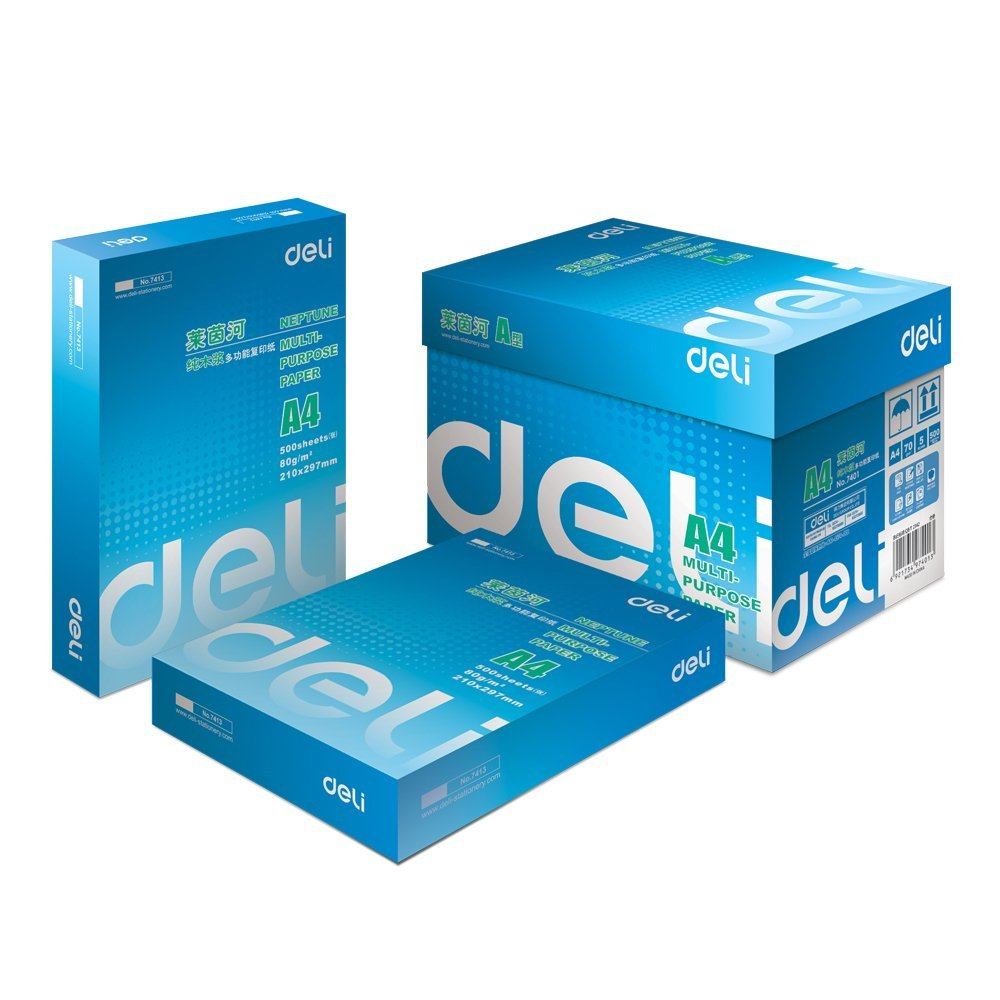 DeLi    Cánh tay phải DeLi 7401 Rhine thuần bột giấy có nhiều khả năng sao chép giấy (70g/A4 5 gói /