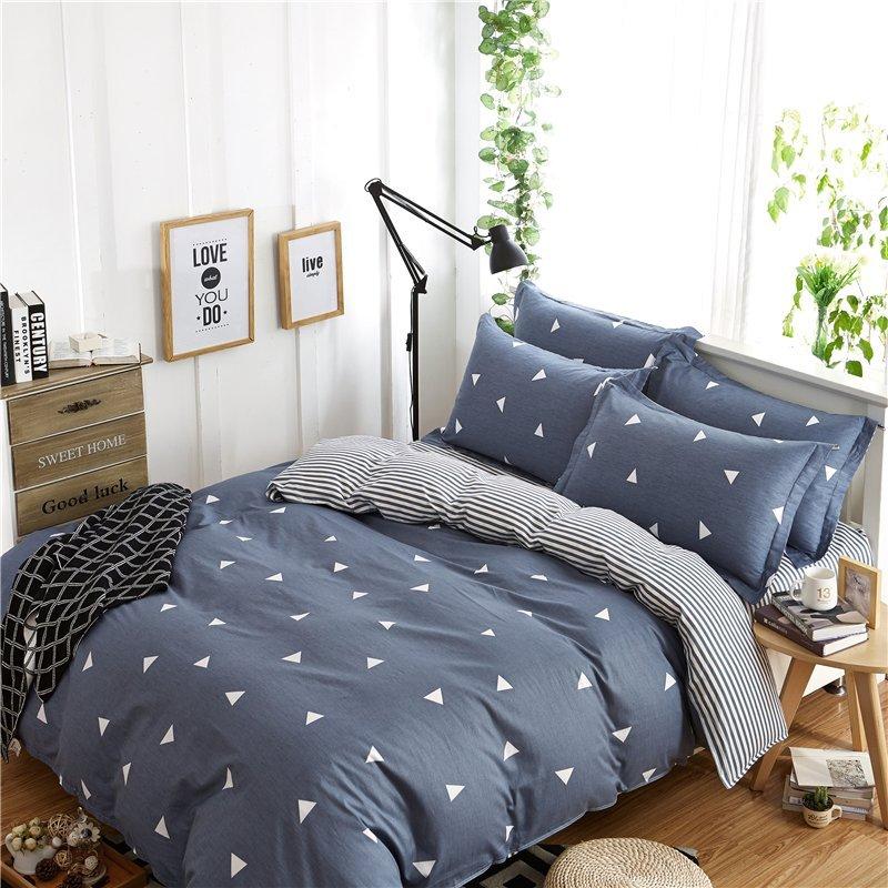 YOTA thỏ twill tem bốn mảnh AB Edition thiết kế giường 1.5/1.8 mét (tổ ấm áp dụng 200*230cm)