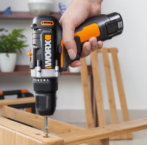 WORX (WORX) có nhiều khả năng sạc pin lithium máy khoan Toolbox WX128.4 đèn khoan điện tua vít gia d